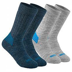 QUECHUA Detské Ponožky Sh100 Modrosivé