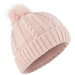 WEDZE Pletená čiapka Fur Ružová